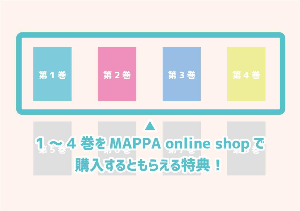 呪術廻戦DVD&Blu-ray1~4巻をMAPPA online shopで購入するともらえる特典!
